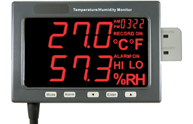 Large LED Temperature/Humidity/CO² Monitors