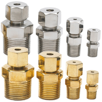 CF05...CF213 - BSPT Adjustable Compression Fittings