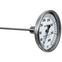 (DB06/060R...DB06/500R) Bi-Metal Dial Thermometer (Fixed Position, Back Entry)