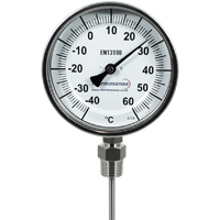 (DB06/060B...DB06/500B) Bi-Metal Dial Thermometer (Fixed Position, Bottom Entry)