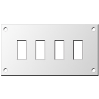 Miniature Aluminium Connector Panels