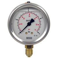 Wika Glycerine-Filled Pressure Gauge (63mm Ø)