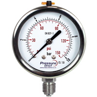 GWD - All Stainless Steel Pressure Gauge (63mm Ø)