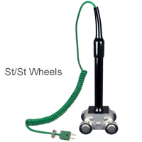 (HK-850) Hand-held Type K Moving Surface Roller Sensor Stainless Steel Wheels (+400ºC)