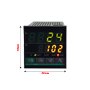 4-Digit Dual Display PID Temperature Controller (48mm x 48mm x 100mm)