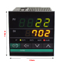 4-Digit Dual Display PID Temperature Controller (72mm x 72mm x 100mm)